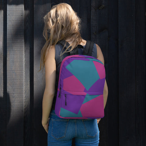 Colorful Backpack Women's Purple Teal Pink