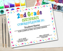 Load image into Gallery viewer, Second Grade Diploma Certificate