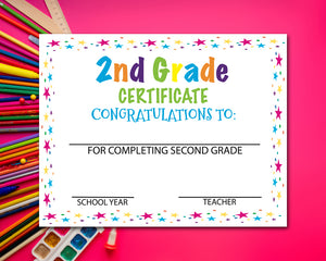 Second Grade Diploma Certificate - 2nd Grade