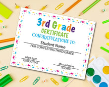 Load image into Gallery viewer, Third Grade Diploma Certificate