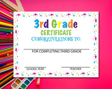 Load image into Gallery viewer, Third Grade Diploma Certificate - 3rd Grade