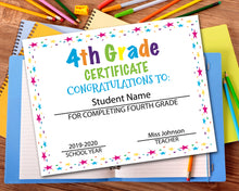Load image into Gallery viewer, Fourth Grade Diploma Certificate - 4th Grade