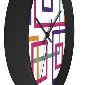 Colorful Squares Wall Clock