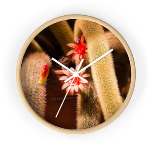 Cactus Flower Photo Wall Clock