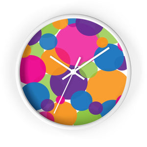Rainbow Circles Wall Clock