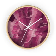 Load image into Gallery viewer, Abstract Contemporary Pink Wall Clock