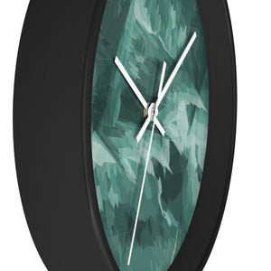 Abstract Contemporary Teal Wall Clock