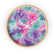 Load image into Gallery viewer, Abstract Watercolor Wall Clock - Purple, Pink, Teal