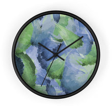 Load image into Gallery viewer, Leaf Pattern Blue & Green Wall Clock