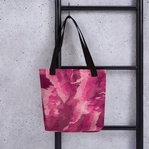 Abstract Tote Bag - Pink