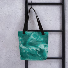 Load image into Gallery viewer, Abstract Tote Bag - Teal