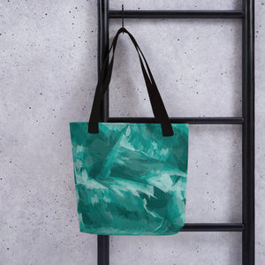 Abstract Tote Bag - Teal