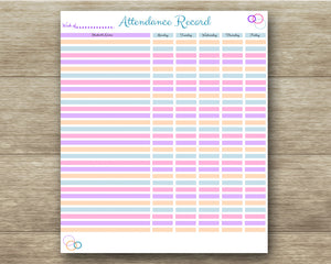 Homeschool Bundle Pack - Lesson Planner, Attendance Record, File Tabs, Day Planner