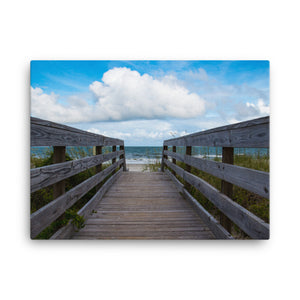 Beach Walkway View - Canvas Print