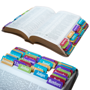 Bible Books Tabs - Colorful - Digital Download