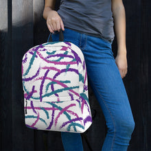 Load image into Gallery viewer, Brush Strokes Backpack - Purple, Teal, Pink
