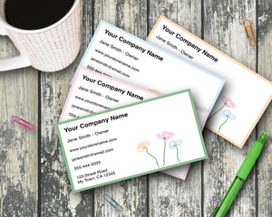 Business Cards - Floral Pattern