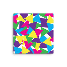 Load image into Gallery viewer, Colorful Abstract Triangles Canvas - Bright Colors