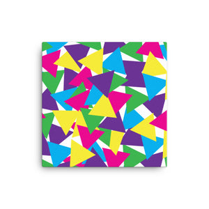 Colorful Abstract Triangles Canvas - Bright Colors