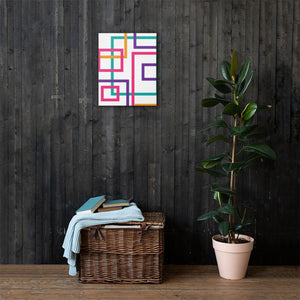 Multi Color Geometric Pattern - Squares and Rectangles - Canvas Print