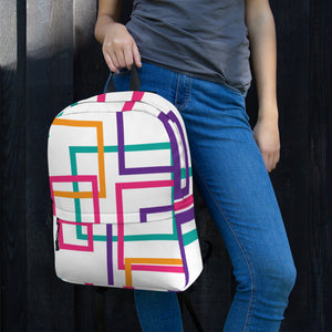Colorful Squares and Rectangles Backpack