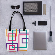 Load image into Gallery viewer, Colorful Squares and Rectangles - Tote Bag