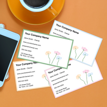 Load image into Gallery viewer, Business Cards - Floral Pattern