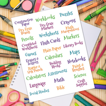 Load image into Gallery viewer, Homeschool Room Labels - Homeschool Organization Labels