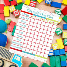 Load image into Gallery viewer, Kid's Weekly Chore Chart