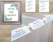 Load image into Gallery viewer, Laundry Sorting Labels & Laundry Room Decor Bundle