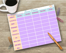 Load image into Gallery viewer, School Lesson Planner - Schedule - Teacher/Homeschool