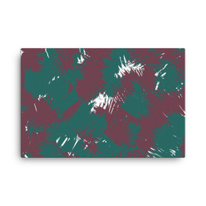 Maroon Teal Abstract Canvas Print