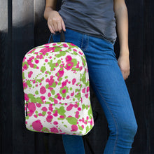 Load image into Gallery viewer, Paint Splatter Backpack - Pink & Green