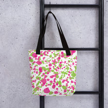 Load image into Gallery viewer, Paint Splatter Tote Bag - Pink & Green