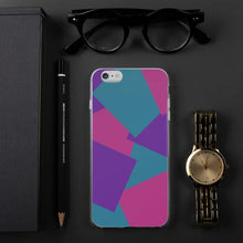 Load image into Gallery viewer, Color Shapes Overlay Pattern - iPhone Case - Purle, Teal, Pink