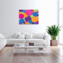 Load image into Gallery viewer, Rainbow Circles Canvas Print