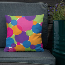 Load image into Gallery viewer, Rainbow Circles Premium Throw Pillow