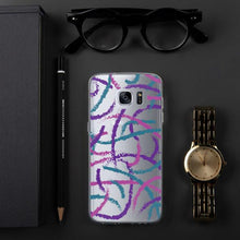 Load image into Gallery viewer, Brush Strokes Samsung Case - Purple Teal Pink