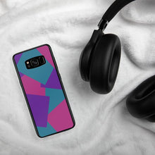 Load image into Gallery viewer, Color Shapes Overlay Pattern Samsung Case - Purple Teal Pink
