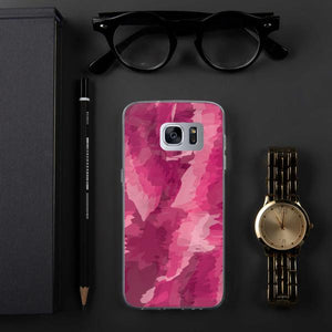 Painted Pattern Samsung Case - Pink