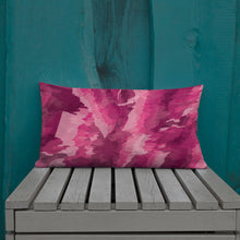 Load image into Gallery viewer, Abstract Painted Pattern Premium Pillow - Pink