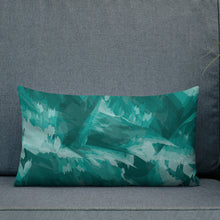 Load image into Gallery viewer, Abstract Painted Pattern Premium Pillow - Teal