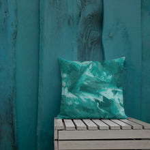 Load image into Gallery viewer, Modern Teal Throw Pillow Cushion