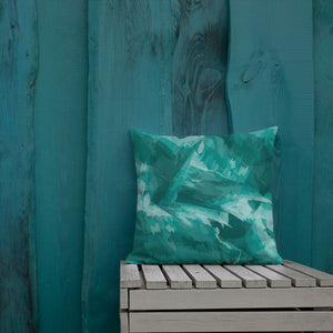 Modern Teal Throw Pillow Cushion