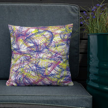 Load image into Gallery viewer, Abstract Thin Brush Premium Pillow - Neon