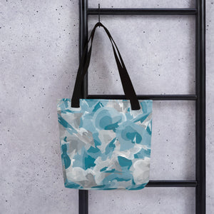 Watercolor Tote Bag - Blue & Gray