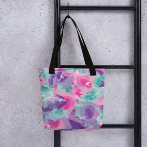 Watercolor Tote Bag - Purple, Pink, Teal