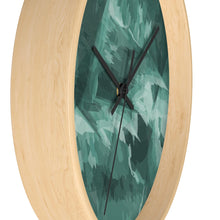 Load image into Gallery viewer, Abstract Contemporary Teal Wall Clock