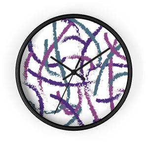 Colorful Brush Strokes Wall Clock
