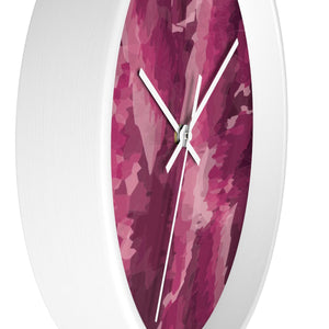 Abstract Contemporary Pink Wall Clock